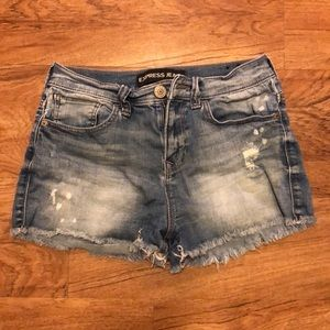 Express cut off shorts